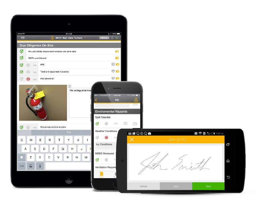 SiteDocs Safety Management Software Mobile Apps