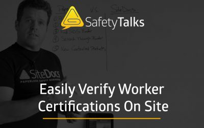Easily Verify Worker Training & Certifications on Site